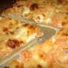 Pizza crémeuse au saumon