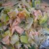 Crème de saumon aux poireaux