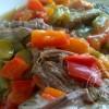 Boeuf bouilli en sauce