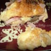 Omelette au jambon/champignons