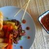 Gungjung Tteokbokki: Gâteaux de riz sautés au boeuf et aux légumes