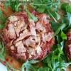 Courgette façon pizza et sa sauce de tomates rôties {sans gluten}