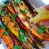 Salade de carottes tricolores rôties