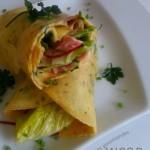 Wrap d'omelette… à la salade