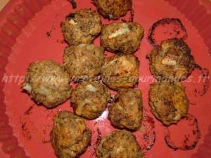 boulettes de viande hachée avec pain