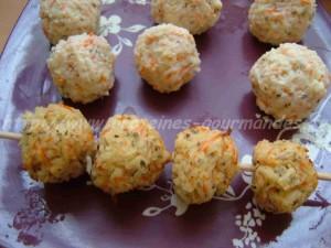 boulettes de crabe chaudes et froides