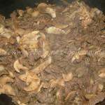 eminces de boeuf aux champignons