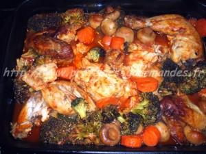 poulet et ses legumes