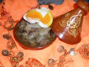 Tajine de keftas aux oignons a la canelle