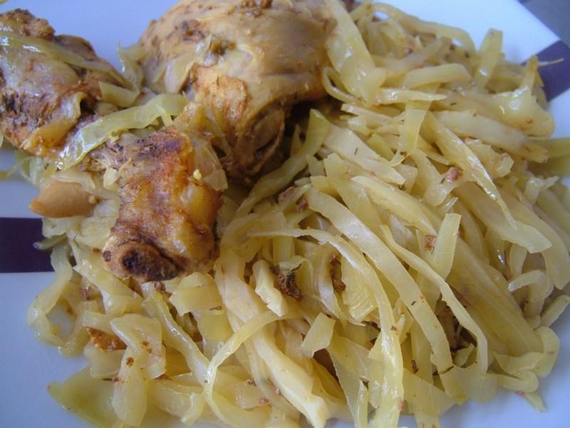 Etouff de poulet au chou blanc prot ines gourmandes - Comment cuisiner des blancs de poulet ...