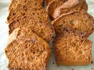 Biscottes avec le pain de mie Dukan, recette Dukan PP par nugget  Recettes et