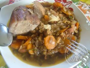 187 jarret de porc aux lentilles au four prot 233 ines gourmandes